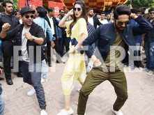 Ayushmann Khurrana, Kriti Sanon and Rajkummar Rao promote Bareilly Ki Barfi in New Delhi