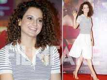 In pictures: Kangana Ranaut makes monochrome look super chic at the Simran trailer launch