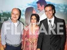 Akshay Kumar, Anupam Kher and Bhumi Pedenkar look classy as ever at a special screening of their film Toilet: Ek Prem Katha