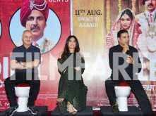 Akshay Kumar, Bhumi Pednekar and Anupam Kher promote Toilet: Ek Prem Katha at Delhi
