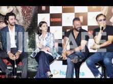 Pictures: Ranbir Kapoor, Omung Kumar, Rajkumar Hirani, Vidhu Vinod Chopra and others attend the trailer launch of Sanjay Dutt's Bhoomi