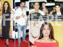 John Abraham, Madhuri Dixit Nene, Sara Ali Khan, Kriti Sanon, Arjun Kapoor spotted at the special screening of Toilet: Ek Prem Katha
