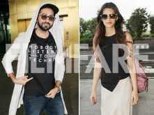 WOW! Kriti Sanon and Ayushmann Khurrana look amazing as they take off to Ahmedabad to promote Bareilly Ki Barfi