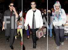 Sidharth Malhotra, Karan Johar and Irrfan spotted at the airport