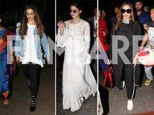 We bet these are the most stylish airport looks of  Deepika Padukone, Jacqueline Fernandez and Malaika Arora so far!