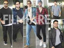 Rohit Shetty, Tusshar Kapoor, Kunal Khemu, Shreyas Talpade, Arshad Warsi and Tabu papped at the airport