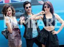 Photos: Varun Dhawan, Jacqueline Fernandez and Taapsee Pannu have some crazy fun at the trailer launch of Judwaa 2 trailer