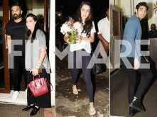 Shraddha Kapoor, Aahan Shetty and Suniel Shetty have a gala time at Mana Shetty's birthday bash