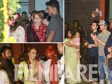 Arpita Khan Sharma, Sohail Khan, Aayush Sharma and Iulia Vantur snapped at Ganesh Visarjan