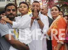 Photos: Sanjay Dutt, Maanyata Dutt bid goodbye to lord Ganesha