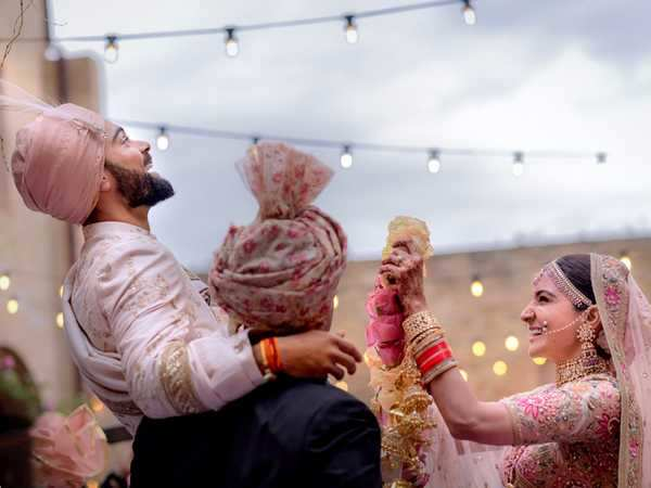 All the details you need about Anushka Sharma and Virat Kohli's wedding outfits, honeymoon and more