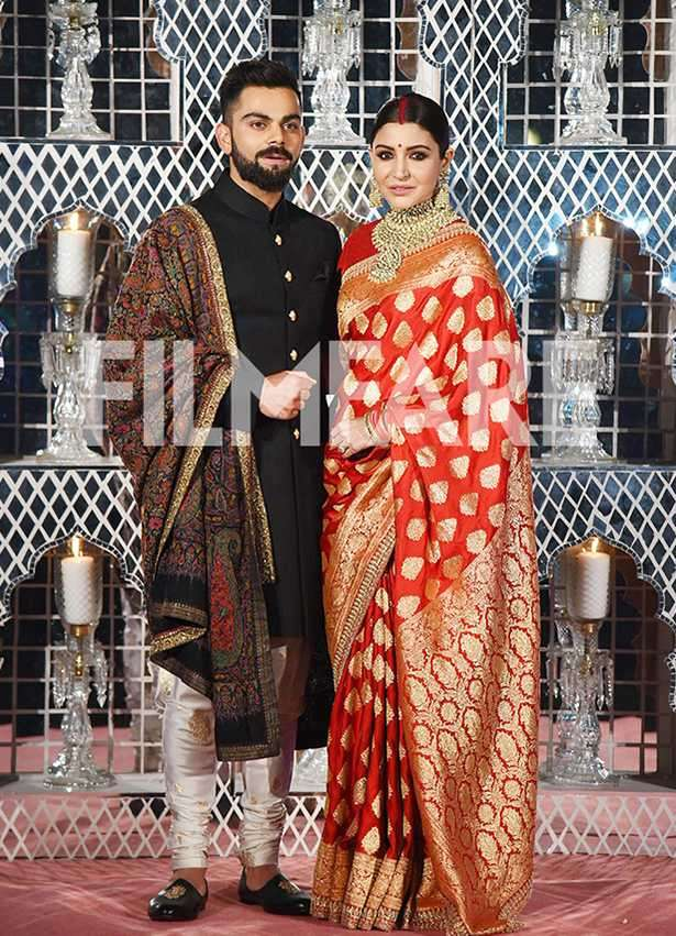 First pictures: Anushka Sharma and Virat Kohli look regal at their Delhi reception
