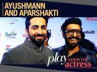 Ayushmann Khurrana and Aparshakti Khurrana play a fun game with us