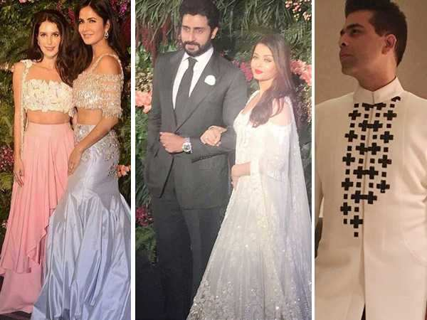 Stars sizzle in Manish Malhotra outfits at Virat and Anushka's Mumbai reception