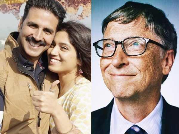 Bill Gates praises Akshay Kumar and Bhumi Pednekar starrer Toilet: Ek Prem Katha