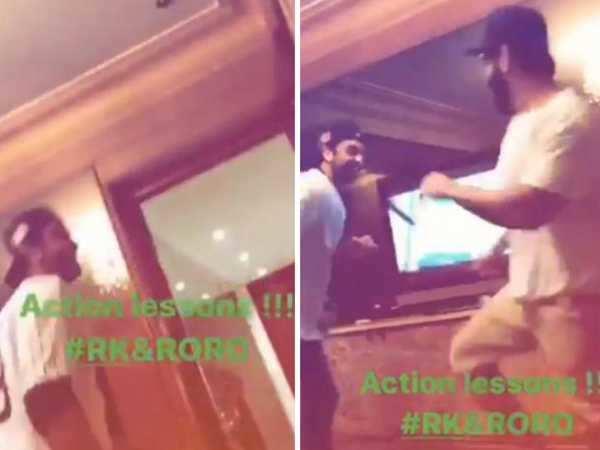 Video alert! Ranbir Kapoor gets into a fight!