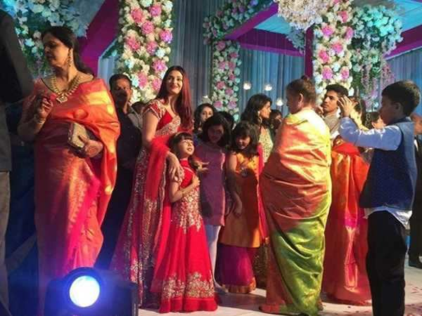 Aishwarya Rai Bachchan dazzles with her daughter at a wedding in Mangalore