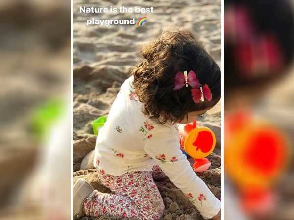 Cuteness Overload! Misha Kapoor playing at the beach is adorable