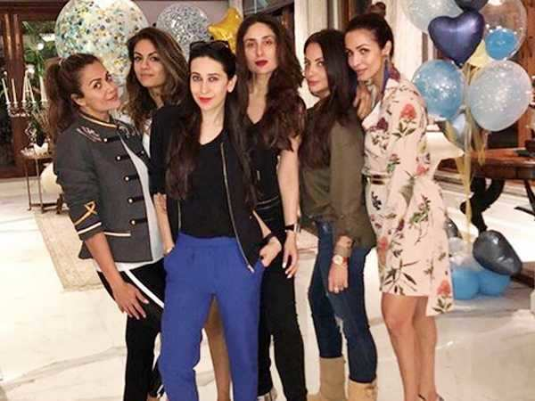 Kareena Kapoor Khan, Karisma Kapoor have a night out with their squad