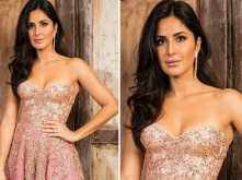 Katrina Kaif looks exquisite in a rose gold gown