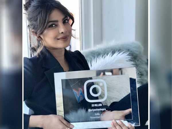 Priyanka Chopra celebrates her 20 million Instagram followers