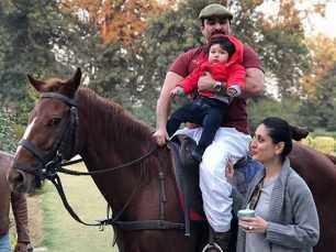 Aww! Taimur Ali Khan enjoys horse riding with daddy Saif Ali Khan