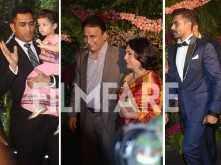 M S Dhoni, Sunil Gavaskar, Ravindra Jadeja and other cricketers attend Virushka's reception