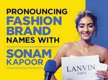 Sonam Kapoor helps you to pronounce these fashion brands correctly