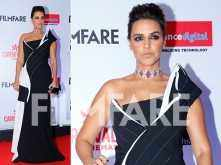 HOT! Neha Dhupia sizzles on the red carpet of Reliance Digital and Filmfare Glamour And Style Awards