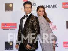 Karan Johar & Sonakshi Sinha at the Reliance Digital And Filmfare Glamour And Style Awards