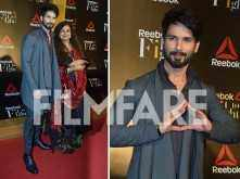 Shahid Kapoor looks dashing as he poses for the shutterbugs at an event