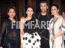 Karisma Kapoor, Karan Johar, Kareena Kapoor Khan party together at Malaika Arora's Christmas bash!