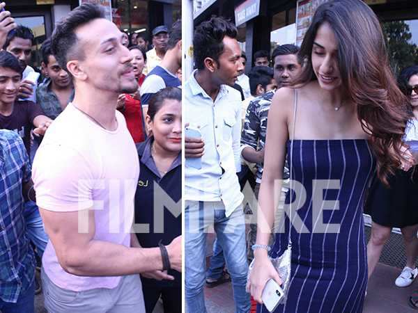 Disha Patani and Tiger Shroff spotted post their lunch date