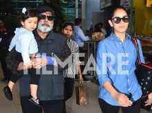 Mira Rajput Kapoor spotted along with Misha Kapoor and Pankaj Kapoor at the airport