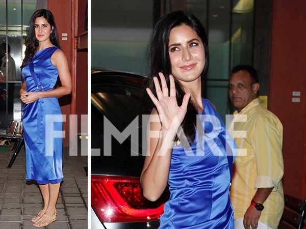 Katrina Kaif looks divine as she attends Arpita Khan's Christmas party