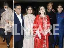 Amitabh Bachchan, Mukesh Ambani and Nita Ambani grace cricketer Krunal Pandya's reception