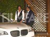 Shah Rukh Khan looks debonair at Mukesh and Nita Ambani's bash