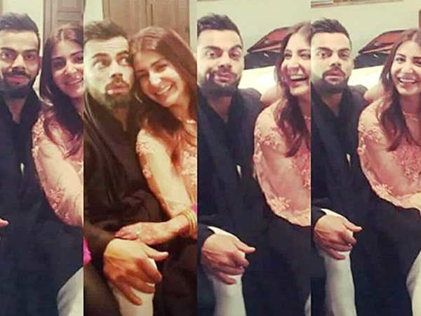 Just In! Anushka Sharma can't stop blushing looking at husband Virat Kohli in these latest pictures