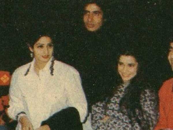 Amitabh Bachchan posts a picture of Sridevi and him from 1990