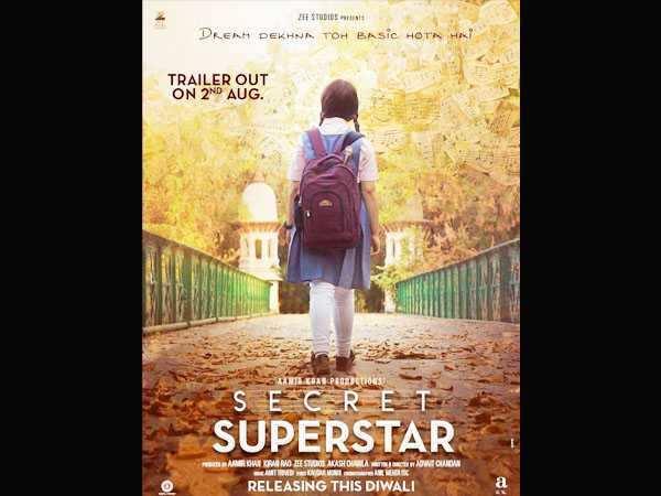 Aamir Khan shares a new poster of Secret Superstar starring Zaira Wasim