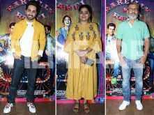 Bareilly Ki Barfi first look launch: Ashwiny Iyer Tiwari, Nitesh Tiwari and Ayushmann Khurrana clicked at the event