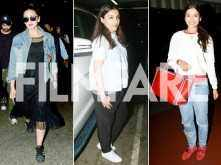 Just some pictures of Soha Ali Khan, Huma Qureshi and Gauhar Khan looking gorgeous at the airport