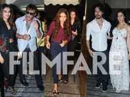 Tiger Shroff, Jackie Shroff, Nidhhi Agerwal and Sooraj Pancholi watch Munna Michael together