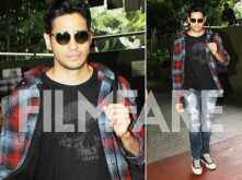 Sidharth Malhotra is back in town post Aiyaary's shoot