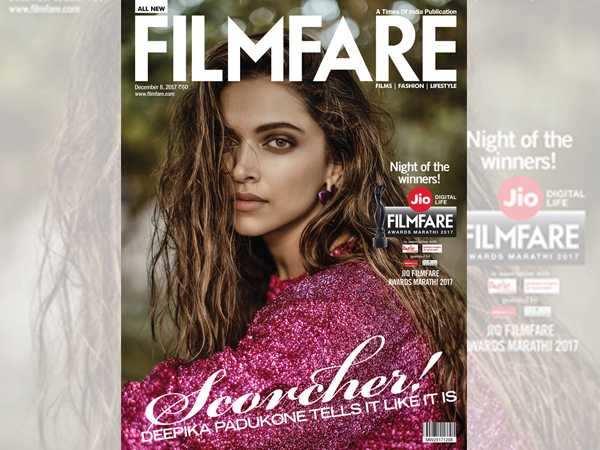 Deepika Padukone sizzles on Filmfare's latest cover