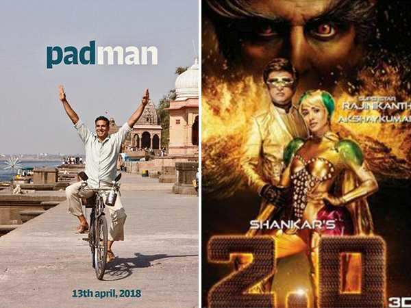 Akshay Kumar's 2.0 and Padman won't be clashing next year