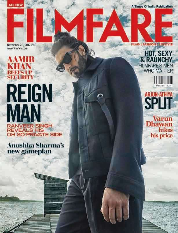 Ranveer Singh Latest Filmfare Cover