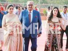 Photos! Boney Kapoor, Sridevi & Janhvi Kapoor make head turning appearances at the IFFI red carpet