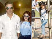 Pictures! Akshay Kumar – Twinkle Khanna's movie date with baby Nitara