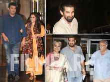 Vidya Balan, Sidharth Roy Kapur, Aditya Roy Kapur and family snapped together